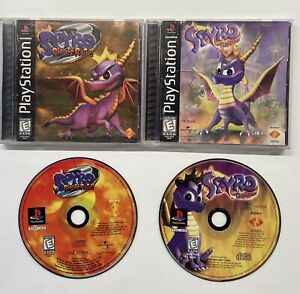 Playstation 1 Spyro Riptos Rage Foil Cover & Spyro The Dragon PS1 Lot COMPLETE!