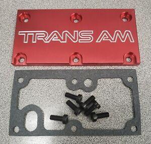 Tpi Lt1 Throttle Body Cover Plate Pontiac Firebird Trans Am Gasket Screws Red