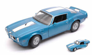 Pontiac firebird trans am 1972 blue w/white stripe 1:24-27 auto stradali scala