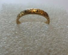 9ct Gold & Cubic Zirconia:  ETERNITY RING [Size I]