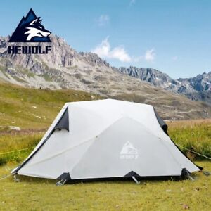 Outdoor Winter Camping Tent 2Persons Double Layer Waterproof Aluminum Alloy Tent