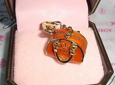 Juicy Couture Orange Bowler Bag Charm For Bracelet, Necklace,Handbag Keychain