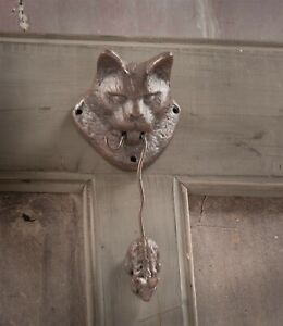 Victorian Trading Co Cat And Mouse Door Knocker