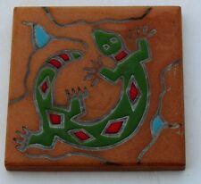 Art Tile lizard desert Gekko Southwest Trivet Ceramic Italy brown green