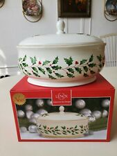 Lenox Holiday Covered Dish. Christmas. Winter. Oven and freezer safe. New
