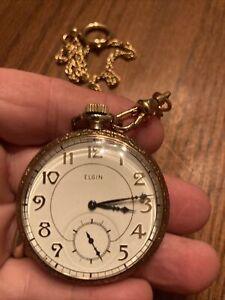 Vintage Elgin Pocket Watch Nice— Running