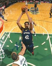 ALEXIS AJINCA signed NEW ORLEANS PELICANS 8X10 PHOTO COA