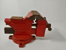 RED Olympia Tools 3.5 In. Workshop Bench Vise