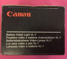 Canon Battery Video Light VL-7  Camcorder Camera Cam D86-0040 NEW