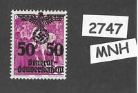 MNH stamp 50Gr 1940 Overprint Third Reich Germany General Government Poland WWII
