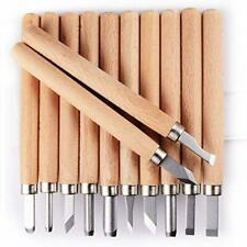 PRUGNA Wood Carving Tools Kit, HRC62 Carbon Steel Graver Set for Kids & Beginner