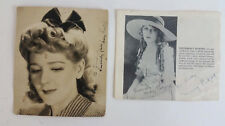 Mary Pickford Original Autographed Photo & Autographed Clipping Lot of 2