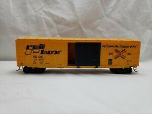 Tyco 50/' Box Car Rail Box Thrall Door Rd# RBOX 10000 HO