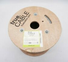 trueCable Cat6 Riser (Cmr), 500ft, Gray, 23Awg 4 Pair Solid Bare Copper, 550Mhz,