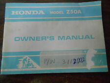 Vintage Honda Factory Owners Owner's Manual 1975 Z50A 3112002