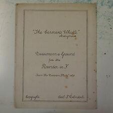 La grabadora de silbato para carmans en F, cop. Dolmetsch