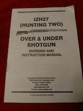 Factory Original IZH 27 Over & Under Shotgun Instruction Owners Manual