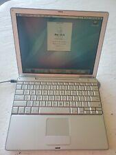 "Apple PowerBook G4 12"" 867 MHz PowerPC G4, 150GB HDD,  640MB RAM. WORKING"