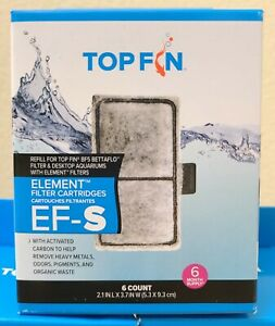 "NEW TOP FIN EF-S ELEMENT Filter Cartridges Size 2.1"" x 3.7"" ☆6 Count/Box☆ BF5"