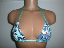 Sauvage Swarovski Crystal Abstract Paisley Print String Bikini Top Small #245L
