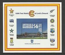 ANTIGUA & BARBUDA 2000 LORD'S CRICKET 100th CENTENARY TEST MATCH Souv Sheet MNH
