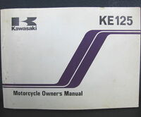 Kawasaki KE125 Owners Manual 1982