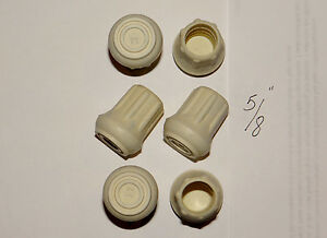 """(6) NEW 5/8"""" HEAVY RUBBER CANE TIPS FOR WALKING STICKS, CRUTCHES, & WALKERS"""