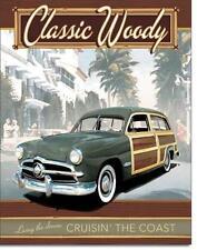 Ford Klassik Vintage 1950er Woody Kombi USA Metall Deko Schild Plakat