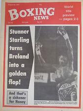 Boxing News 28 Aug 1987 Marlon Starlin-Mark Breland Honeyghan-Hatcher,Bruno