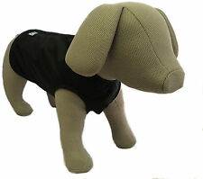 Doggie Coats Step in Waterproof Lightweight Unlined Dog Coat Black 20 Inch