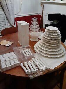 wilton wedding cake columns and cake plates