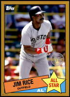 Jim Rice 2020 Topps 1985 35th Anniversary All-Stars 5x7 Gold #85AS-34 /10 Red So