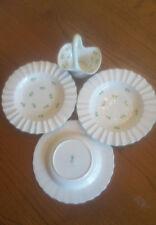 "CROWN STAFFORDSHIRE china SHAMROCK pattern 3 Soup Bowl @ 8 3/4 With 6"" Basket """""