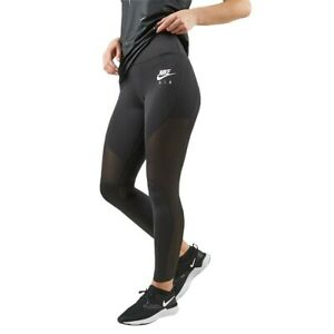Women's Nike Air 7/8 Mesh Running Training Tights Size XL Black BV1730-010