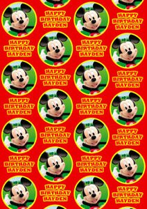 MICKEY MOUSE CLUBHOUSE Personalised Gift Wrap - Disney's Mickey Wrapping Paper