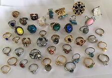 Lot Of 43 Vintage/modern Costume Jewelry Rings Adjustable
