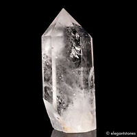 306g 108mm Natural Clear Quartz Rock Crystal Point Obelisk Tower Healing Chakra