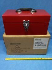 "Westward 32PK25 Powder Coated Portable Steel Tool Box 12"", Skbawa-s037-jb"