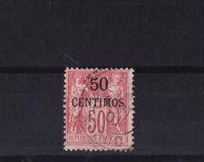Maroc colonie Francaise  Sage  50c sur 50c   rose  num: 6  obl