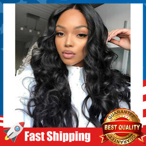 Women Lace Front Wigs Wavy Synthetic Wigs Heat Resistant Fiber Natural Long Hair