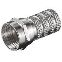 F-Stecker Adapter für Sat Satellit LNB Kabel außen Durchmesser 4mm 3 Ringe 20mm