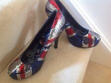 union jack stilleto shoes