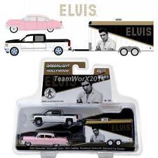 GREENLIGHT 31020A 2015 Chevy Silverado & 1955 Cadillac Fleetwood 1:64 NEW!!