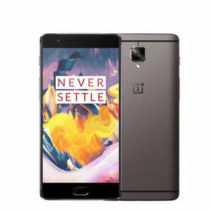 "OnePlus 3T 64GB Gray 16MP 5.5"" 6GB RAM Quad-core Android Phone by Fed-ex"