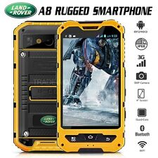 "Unlocked Land Rover A8 Yellow IP68 4"" Quad Core 3G Waterproof Rugged Smartphone"
