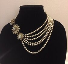 Miriam Haskell signed Beautiful CHOKER Necklace faux PEARL