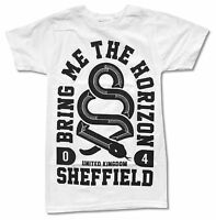 Bring Me The Horizon Snake White T Shirt New Official Adult BMTH