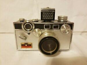 Argus C3 55mm Camera Golden Shield Rare!! w/ Golden Shield case.