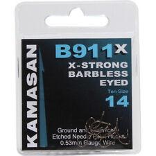 Kamasan x3 Packets of 10 BARBLESS Hooks B981 Size 8