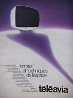 PUBLICITÉ DE PRESSE 1973 TÉLÉAVIA FORMES ET TECHNIQUES DE L'ESPACE